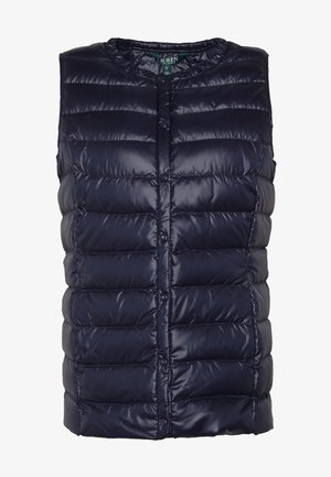 PEARL SHEEN HOZIONTAL QUILT VEST - Chaleco - navy