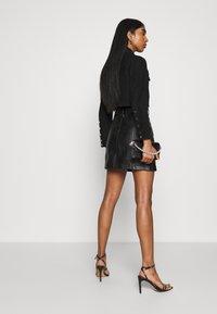 Topshop - HARDWEAR ZIP BIKER SKIRT - A-line skirt - black - 4
