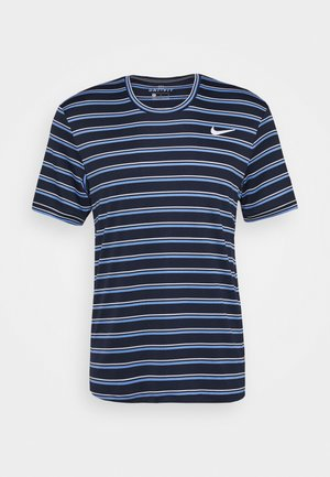 DRY TEAM - Camiseta estampada - obsidian/white