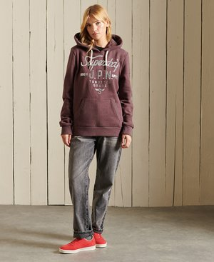 SCRIPT STYLE WORKWEAR - Sweatshirt - rich deep burgundy marl