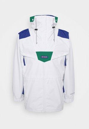 MONASHEE ANORAK - Hardshell jacket - white/lapis blue/emerald green