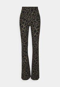 Noisy May Tall - NMSOFIE PASA FLARED PANTS  - Trousers - dusty olive/leo - 0