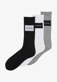 Calvin Klein Underwear - TRAVEL BAG 3 PACK - Ponožky - grey - 1