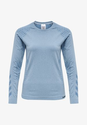 CI SEAMLESS - Funktionstrøjer - faded denim melange