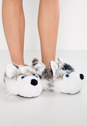 HUSKY SLIPPERS - Pantuflas - grey