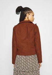 JDY - Faux leather jacket - cherry mahogany - 2