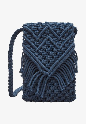 IN MAKRAMEE OPTIK - Across body bag - dark blue