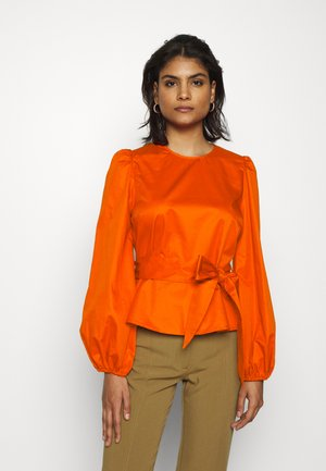 WITH PEPLUM - Blouse - pumpkin