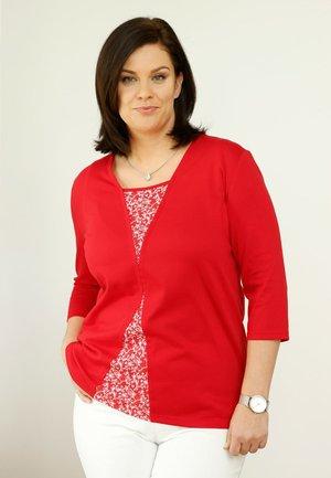 2 PACK - Cardigan - rot,weiß