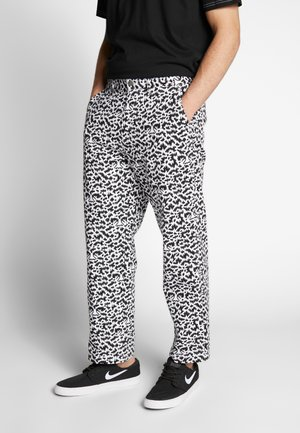 HARDWORK FUZZ PANT - Džíny Relaxed Fit - black multi