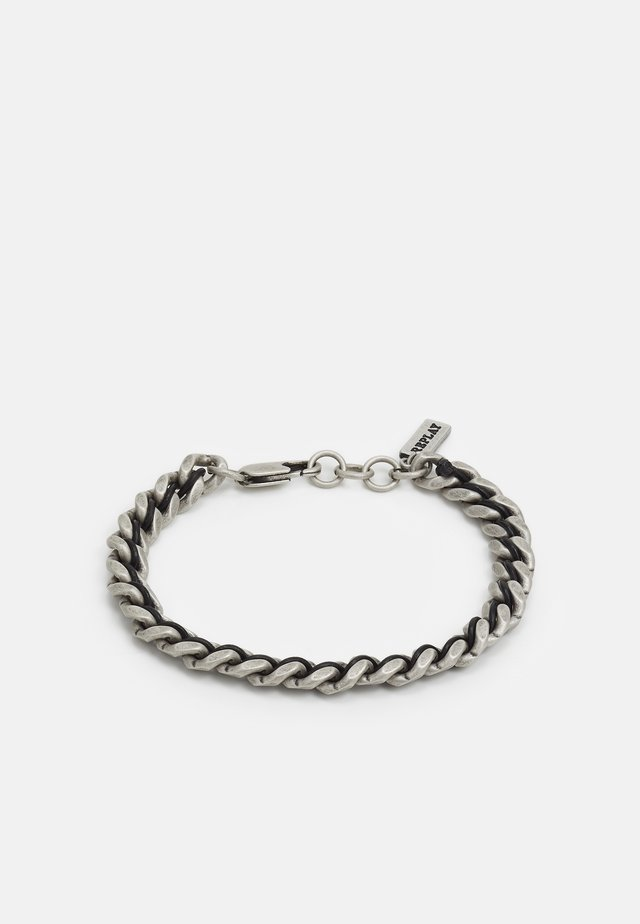 BRAIDED BRACELET - Armband - silver-coloured
