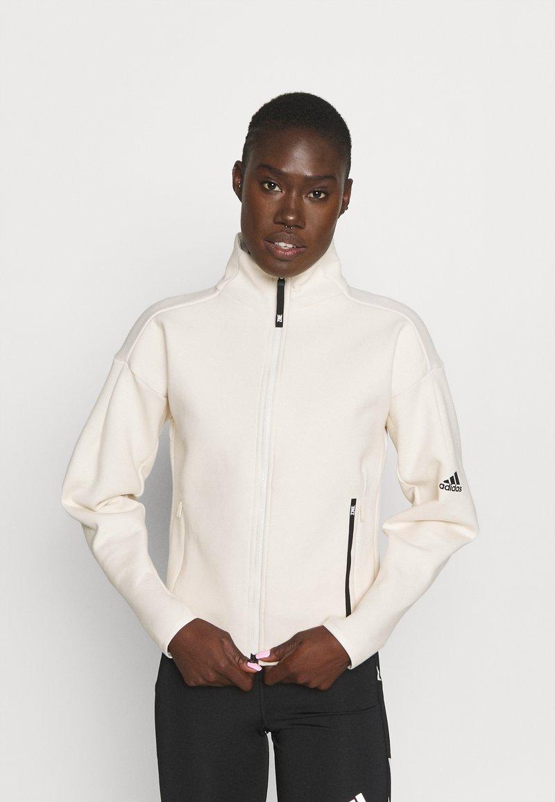 adidas Performance - ZNE MOTHER - Zip-up sweatshirt - white