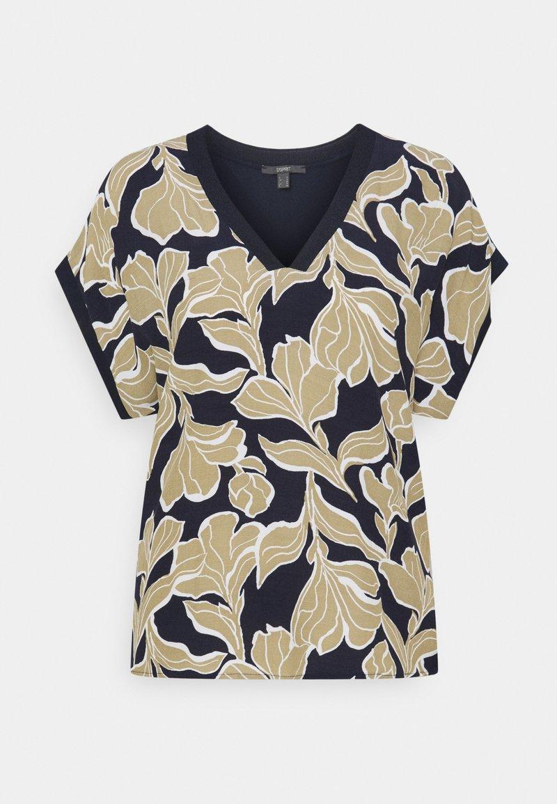 Esprit Collection - FAB MIX - T-shirt z nadrukiem - navy