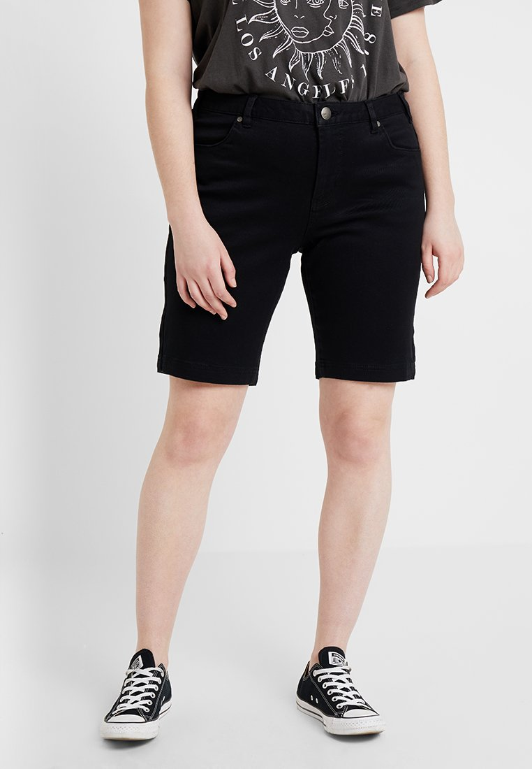 Zizzi - EMILY SLIM LEG - Shorts - black soild