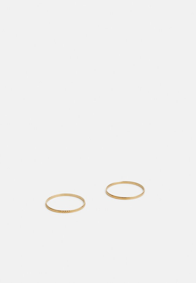STRAIT UNISEX 2 PACK - Ring - gold-coloured