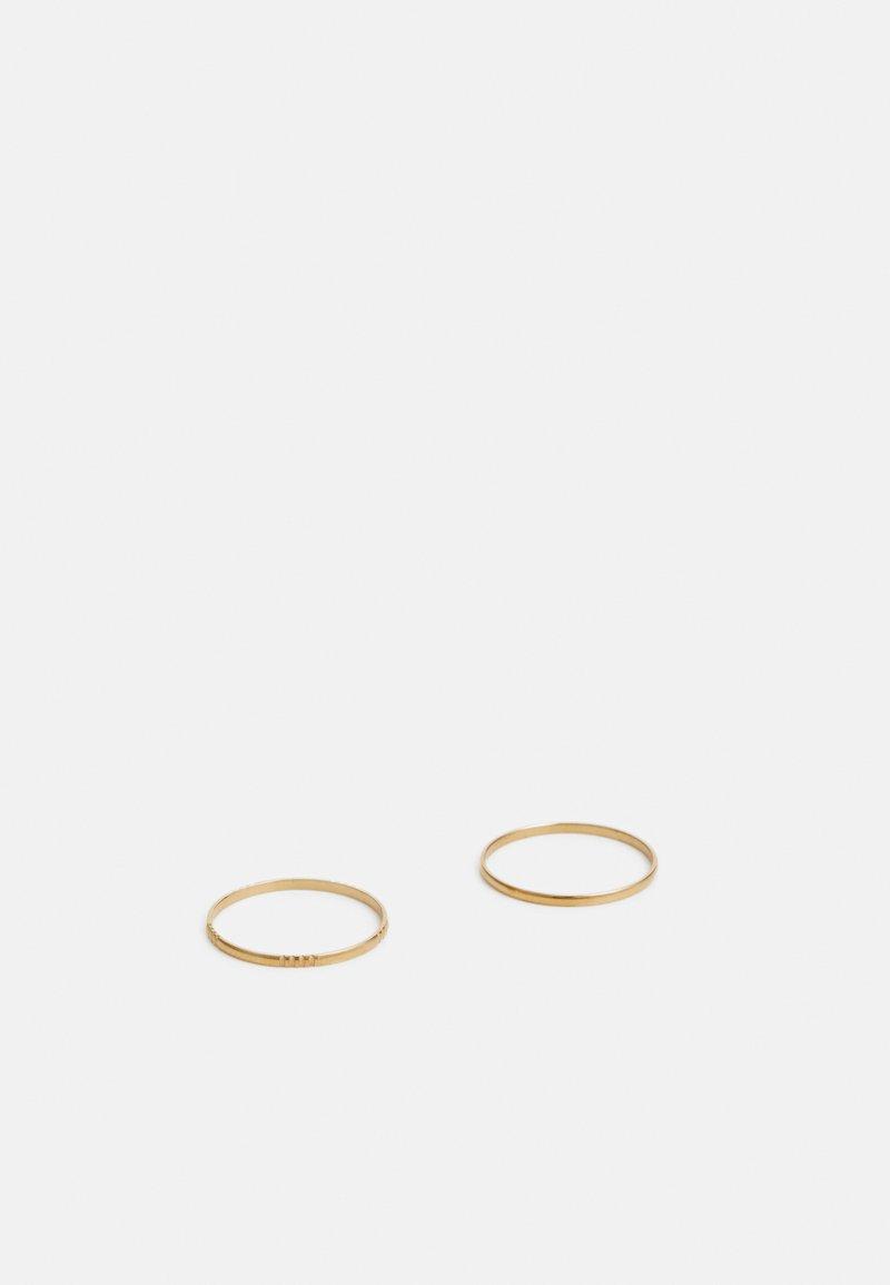 Vitaly - STRAIT UNISEX 2 PACK - Ring - gold-coloured