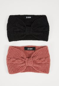 Zign - 2 PACK - Ørevarmere - rose/black - 0