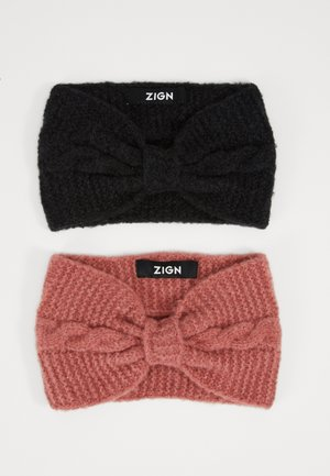 2 PACK - Ear warmers - rose/black