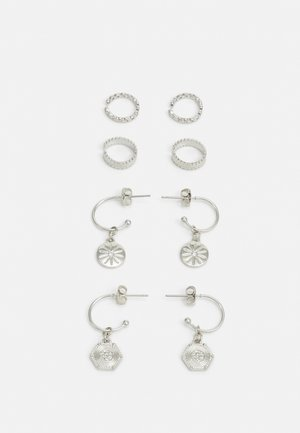 PCGABRILY EARRINGS 4 PACK - Earrings - silver-coloured
