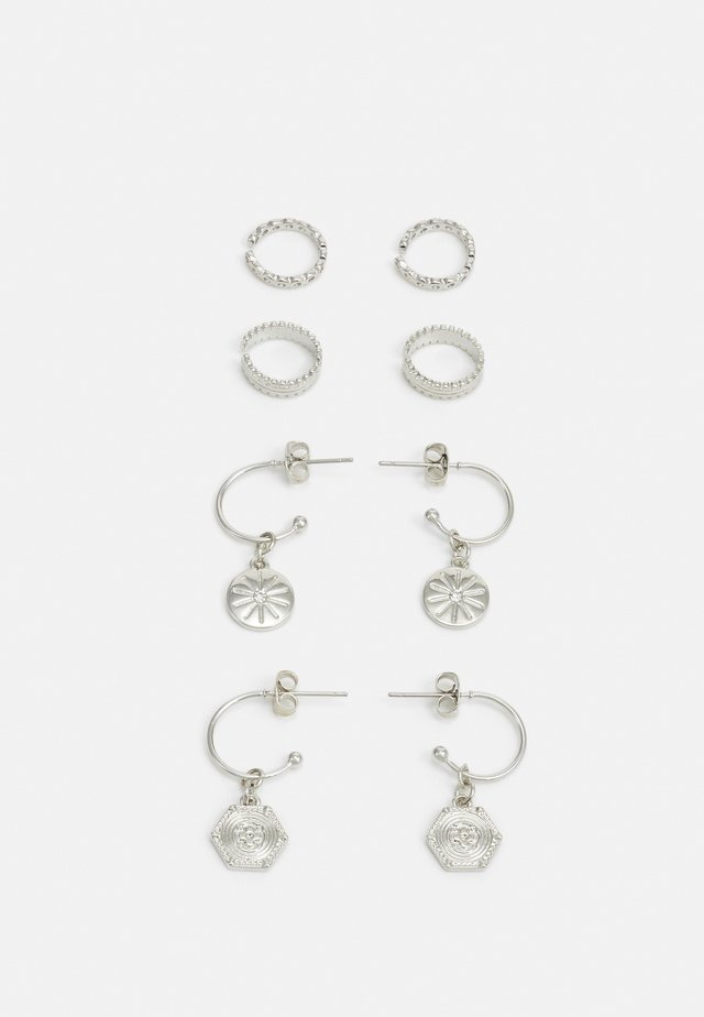 PCGABRILY EARRINGS 4 PACK - Kolczyki - silver-coloured