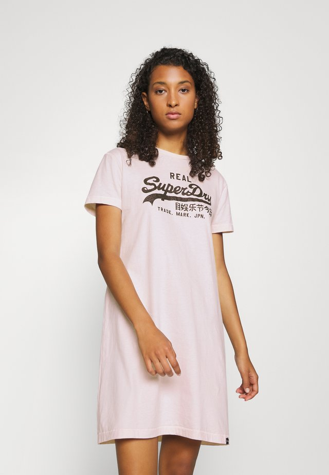 VINTAGE LOGO DRESS - Jersey dress - light pink
