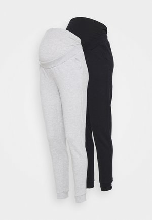2 PACK - REGULAR FIT JOGGERS - OVERBUMP - Træningsbukser - black/grey
