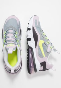 Nike Sportswear - AIR MAX 270 REACT  - Tenisky - particle grey/lemon/iced lilac/off noir - 0