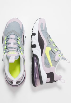 AIR MAX 270 REACT  - Sneakersy niskie - particle grey/lemon/iced lilac/off noir