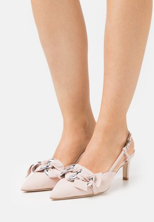 ENNY - Classic heels - baby rose/silver