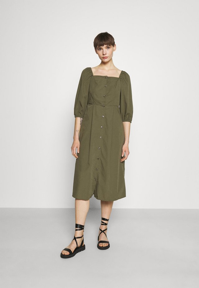 VMKARINA SQUARE DRESS  - Shirt dress - ivy green