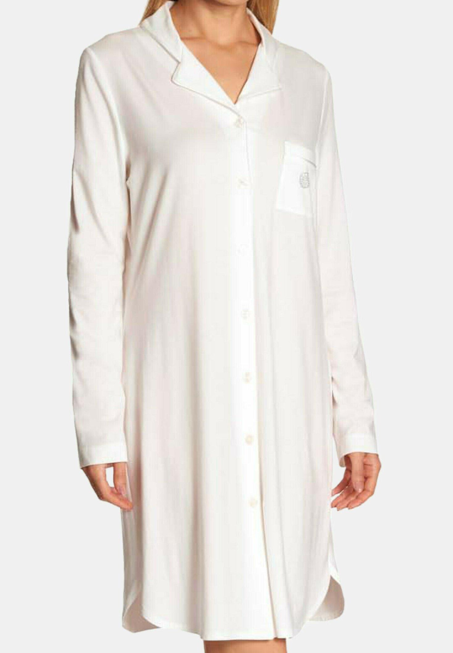 Damen MIT KNOPFLEISTE LANGARM - Nachthemd