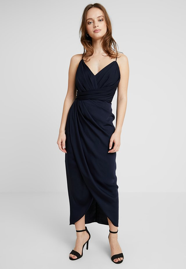 CHARLOTTE DRAPE DRESS - Occasion wear - navy