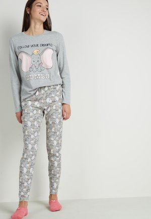 Pyjama set - light grey blend dumbo print