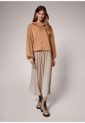 MODALMIX - Zip-up sweatshirt - brown