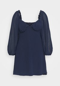 Missguided Plus - DOBBY MILKMAID DRESS - Day dress - navy - 0