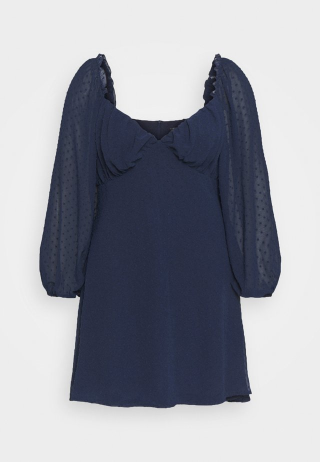 DOBBY MILKMAID DRESS - Robe d'été - navy