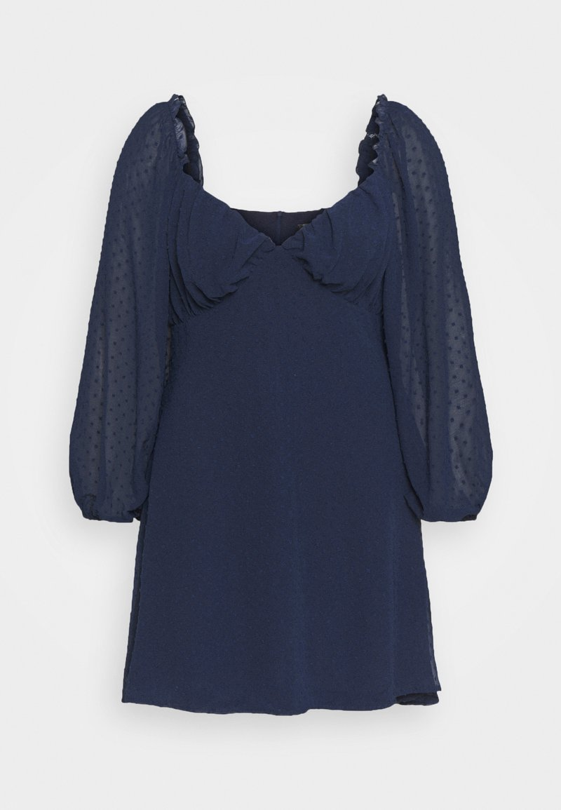 Missguided Plus - DOBBY MILKMAID DRESS - Day dress - navy