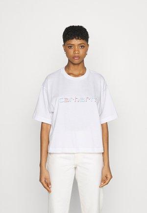 SHADOW SCRIPT - T-shirt print - white