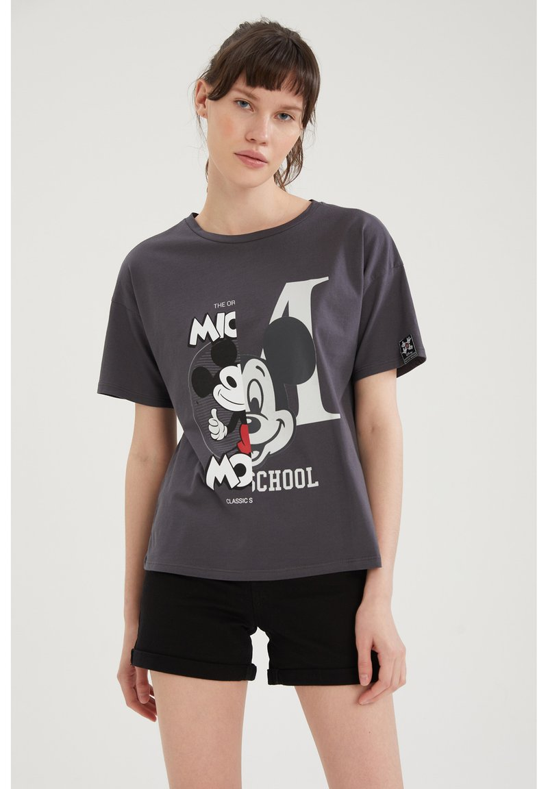 DeFacto - DISNEY MICKEY - T-shirt con stampa - anthracite