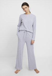 Anna Field - Cosy rib wide leg set - Pyjama set - grey - 0