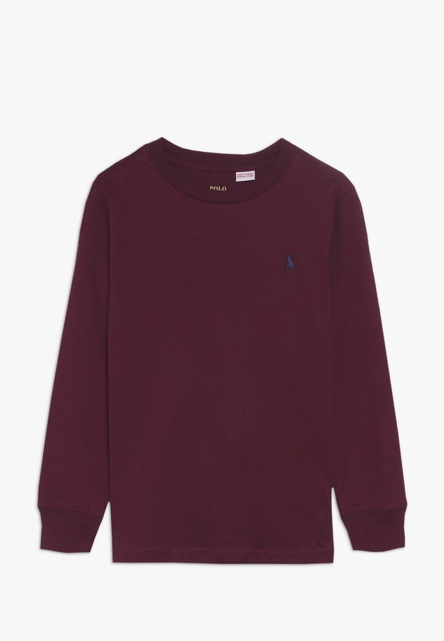 Long sleeved top - classic wine