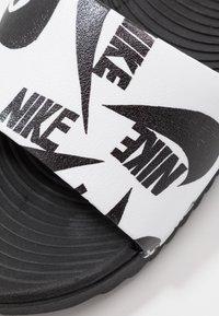Nike Performance - KAWA SLIDE  - Sandały kąpielowe - white/black - 2