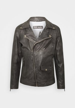 CHACCO - Leather jacket - dark anthra
