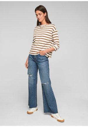 Long sleeved top - caramel stripes
