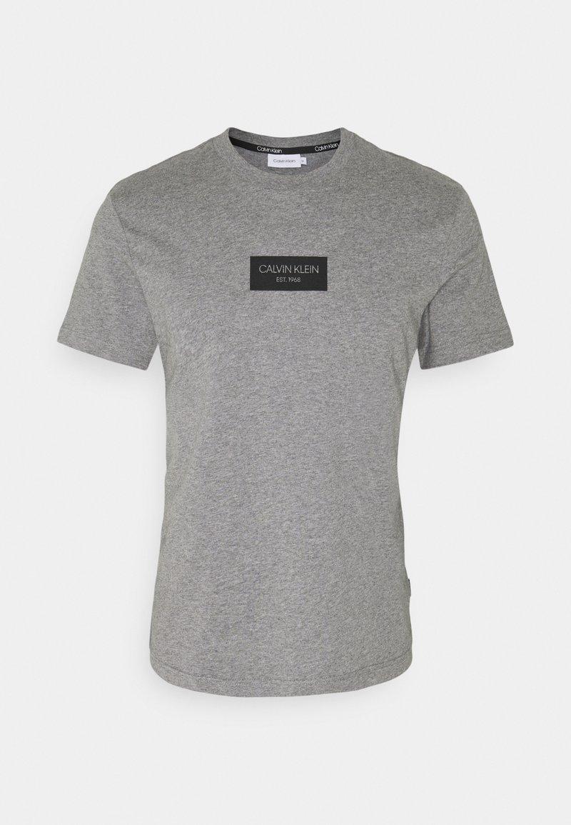 Calvin Klein - CHEST BOX LOGO - Print T-shirt - grey