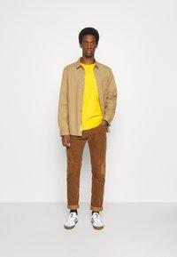 Selected Homme - SLHNORMAN O NECK TEE  - T-shirt basic - mango mojito - 1