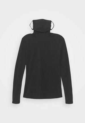 SHEER STRETCH TNECK MASK - Long sleeved top - black