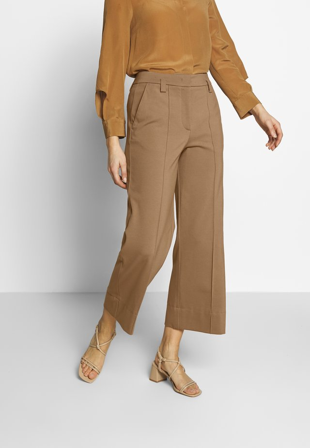 PANTS HIGH WAISTED WIDE LEG  - Trousers - warm pecan