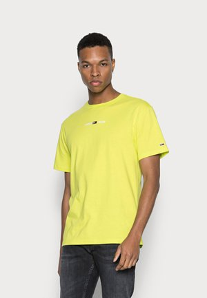 SMALL TEXT TEE - Basic T-shirt - neo lime