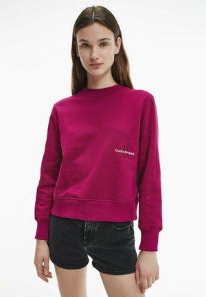 OFF PLACED MONOGRAM CREW NECK - Sweatshirt - dark clove